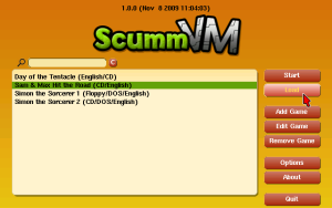 ScummVM Main Screen