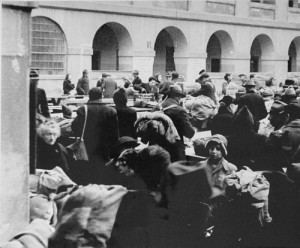 Theresienstadt, Czechoslovakia, Jews with their belongings, arriving at the ghetto. © Yad Vashem Photo Archive.